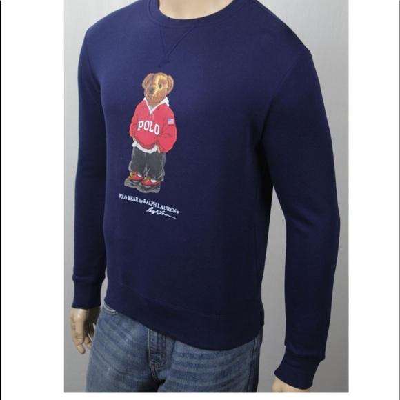 b749007cd Vntg Polo Ralph Lauren preppy teddy bear pullover.  M 5bc01ffb9539f750c27441df